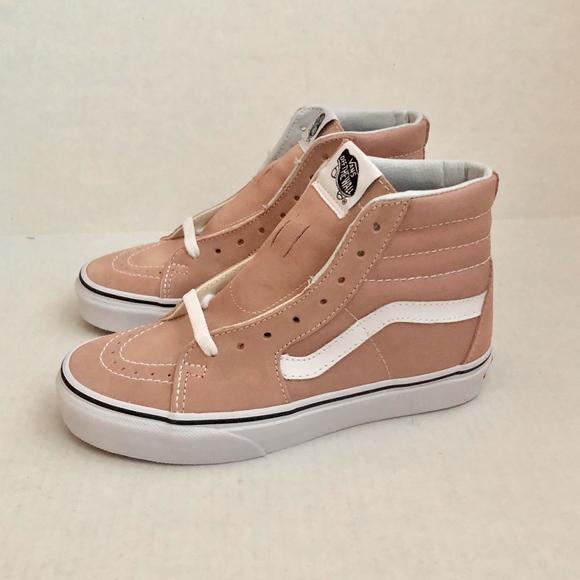Vans SK8 Hi Mahogany Rose Skate Shoes 4aaad66de